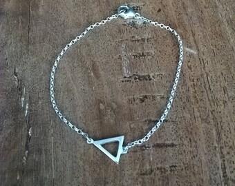 Sterling Silver Triangle Bracelet