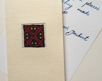 Postcard Ethnic Embroidery