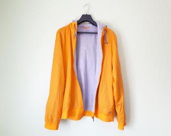 Jacket Reebok vintage 90's, orange jacket, XL, k-way jacket