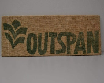 Burlap Coffee Sack Wall Art—Outspan