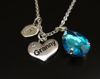 Granny Necklace, Granny Charm, Granny Pendant, Granny Jewelry, Grandma Necklace, Grandma Gift, Gift for Granny, Granny Gift, Nana Necklace