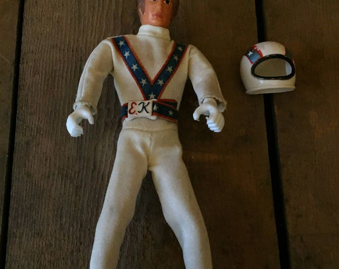 Vintage 1972 Ideal Evel Knievel Doll With Helmet!