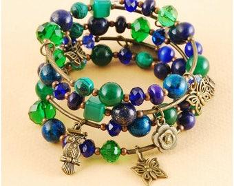 "Bracelet on the spring ""Lazurite Garden"""