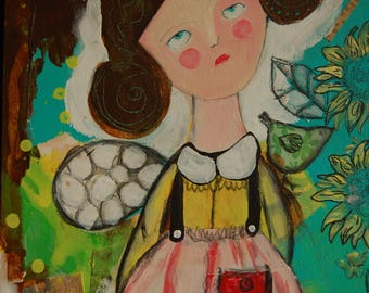 Painting Little Girl 5