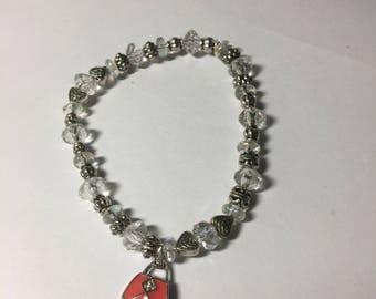 Girly Purse Charm Bracelet, Let's Go Shopping Bracelet, Purse Bracelet