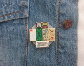 "Lego ""nostalgia"" badge / fridge magnet"
