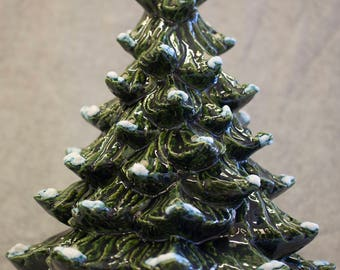 Hand-Painted Ceramic Christmas Tree with Lights