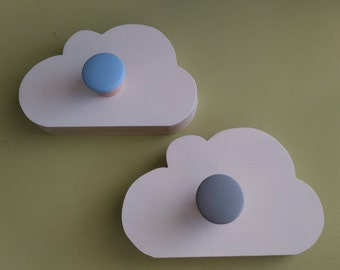 Cloud Wall Hanging with Knob