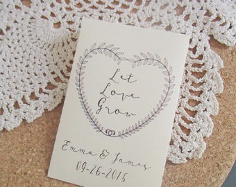 PRINTABLE, Seed Packet, Custom, Wedding Favour, Let Love Grow, Personalized, Favor, Envelope, DIY, Flowers, Seeds, PDF, template, Envelope