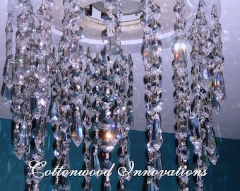 The Raindrop Crystal-lier | A modern twist on the classic Chandelier | Upgrade your Recessed Lighting |