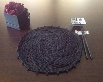 Crochet PATTERN Placemat N 115 TABLE DECOR