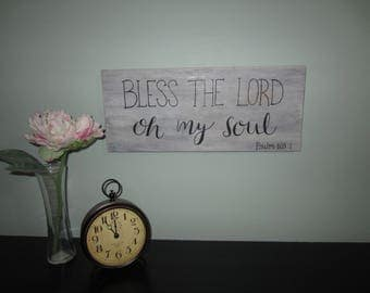Bless the Lord, Oh my soul Calligraphy Sign
