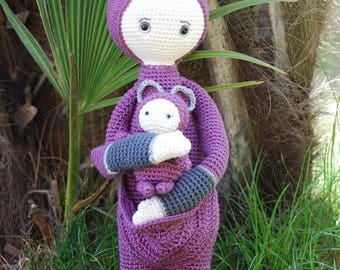 Lalylala Kangaroo , amigurumi, crochet doll