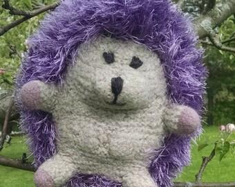 hedgehog, wool stuffed,