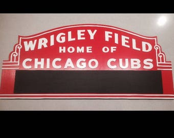 Chicago Cubs Wrigley Field Marquee Sign w/Chalkboard Marquee