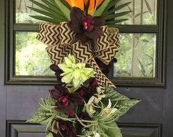 Bird of Paradise Floral Door Swag