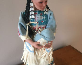 Native American Porcelain Doll by Judy Belle