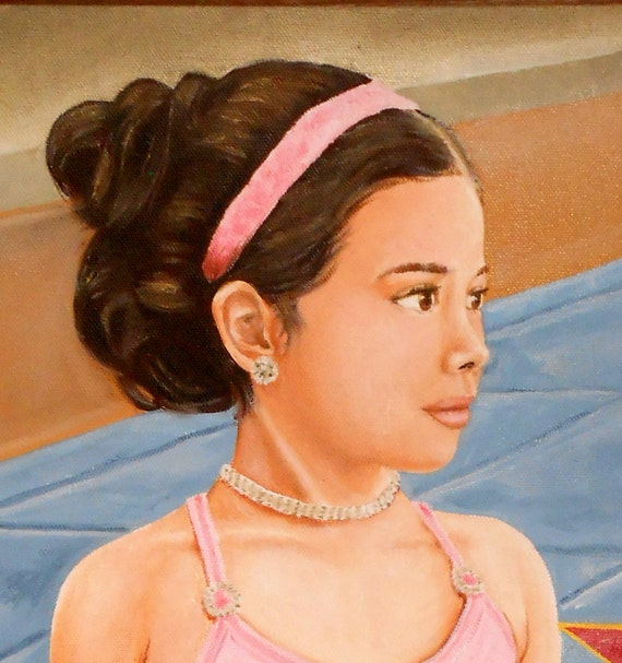 Custom Portrait Painting, Child Ballerina or in any sport or activity