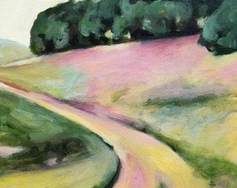 California Landscape Painting original oil painting 12x12 inches landscape painting CA Hills