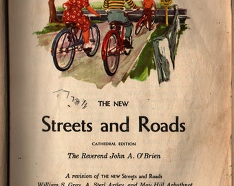 The New Streets and Roads Cathedral Edition - The Reverend John A. O'Brien - 1953 - Vintage Kids Book