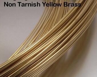 14 gauge Non Tarnish Yellow Brass Wire, 10 feet or 25 feet