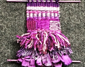Deja Vu Woven Tapestry in Purples with Fringe