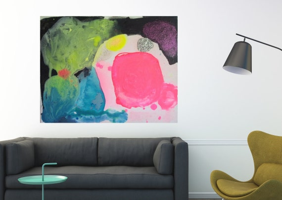 Abstract Art Landscape Australia Large Canvas Art Print Wall Art Home Decor Abstract Modern Art Contemporary Pink Black