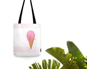 Cute strawberry ice cream cone - Tote bag