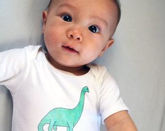 Dinosaur onesie - brontosaurus onesie - babysaurus onesie