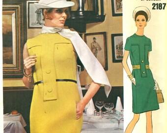 Vogue 2187 Michael of London MOD DRESS Size 14 Vogue Couturier  ©1969