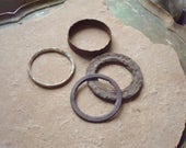 Rusted Found Metal Round Rings for Assemblage, Altered Art, Craft Sculpture