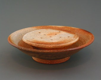 Tea Boat, wood-fired stoneware w/ natural ash glaze