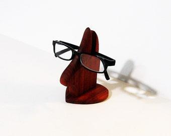 Eyeglass Holder Made Of Red Padauk Wood