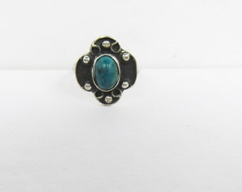 Vintage BFT Taxco Mexico Sterling and Azurite Stone Ring  Size 6     0563