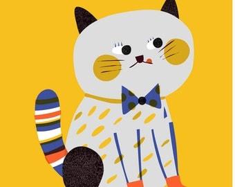 Chouchou Cat Print