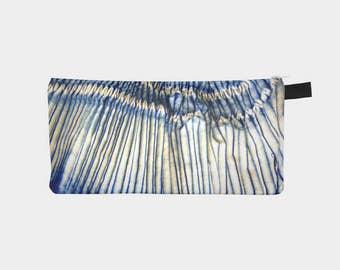 Shibori 41 Japanese Indigo Blue Tie Dye Travel Bag Cosmetic Case Pencil Pouch