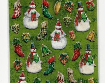 Snowman Pillow Stickers ~ K&C Company