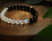 the cosmic traveler bracelet / mala bracelet / mystic aura quartz/ lava / color changing / cosmic / space