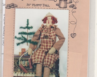 "Ragamuffin Randy 30"" Floppy Doll Uncut Sewing Pattern Free US Shipping"