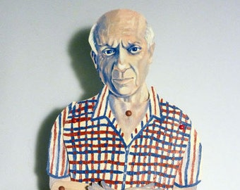 Pablo Picasso Articulate Paper Doll - Paper Puppet - DIY Printable PDF - Cubist