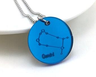 Gemini Necklace, Zodiac Sign, Astrology Necklace, Astronomy Jewelry, Zodiac Jewelry, Constellation Pendant, Cosmic Jewelry, Space Pendant
