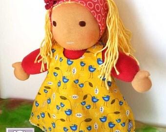 Waldorf inspired Toddler Doll, Maika, All Natural Materials