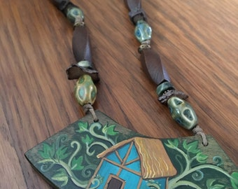 The Cottage Painted House Necklace