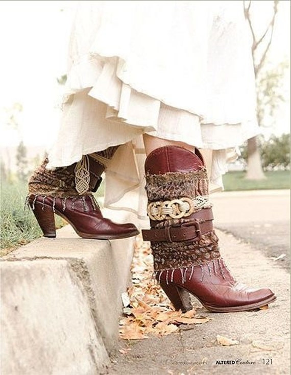 Custom Upcycled Tall Festival Boots ~ Choose your favorite style ~ Send me your favorite tall boots to decorate ~ Made To Order
