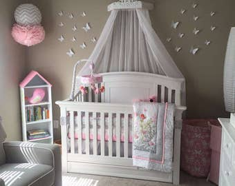 Items similar to shabby pink distressed bed crown canopy for Nursery crown canopy