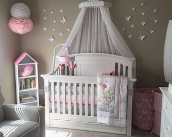 Canopy bed with jewels, Bed crown canopy, princess nursery decor,Crib Canopy