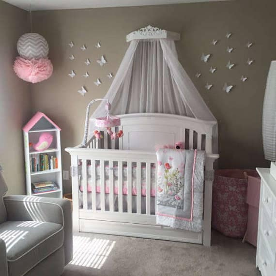 Princess Bed Canopy Girl Crown Pelmet Upholstered Awning: Canopy Bed With Jewels Bed Crown Canopy Princess Nursery