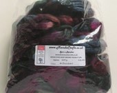 Special order for  Elaine Heeley - 100g Space-Dyed Baby Brown Yak/Silk - Midnight