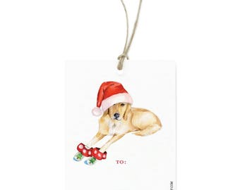 Yellow Lab Gift Tag Set