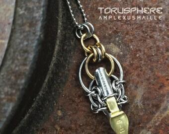 Pendantic Steampunk Scribe Pendant on Chain